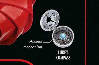 The final published cover for 'The Last Jedi: The Visual Dictionary' features Luke's compass right on the cover.