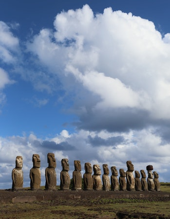 The 15 Moai