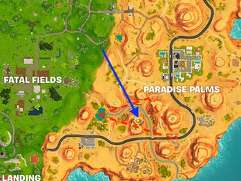 """The latest """"search between"""" Battle Star Challenge in Week 2 sends players to Paradise Palms."""