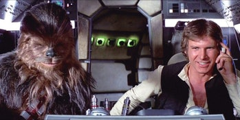 There's just something special about seeing Chewie and Han in the 'Falcon' cockpit.