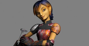 Sabine Wren in 'Rebels'; one of the only legit Mandalorians who is in a bunch of Star Wars stuff.