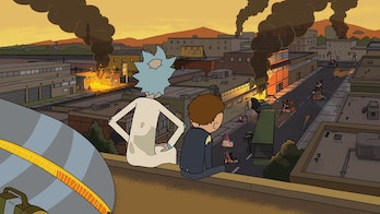 """Rick and Morty gaze over their world of """"Cronenberg monsters"""" after one adventure goes too far."""