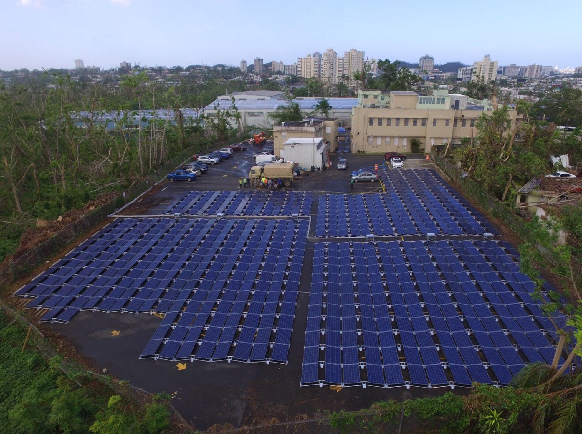 Tesla solar panel project.