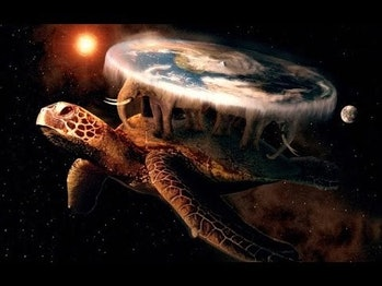 flat earth turtle