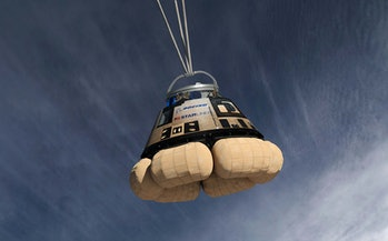 Boeing's CST-100 during a test run.