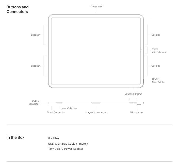 apple ipad pro tech specs