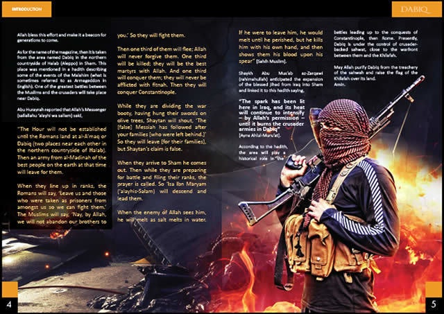 ISIS's glossy magazine Dabiq showcased the group's martial efforts.