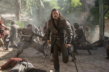 Luke Arnold as Silver on 'Black Sails' Season 4