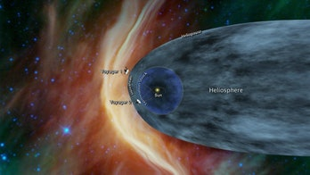 Heliosphere with Voyager space craft