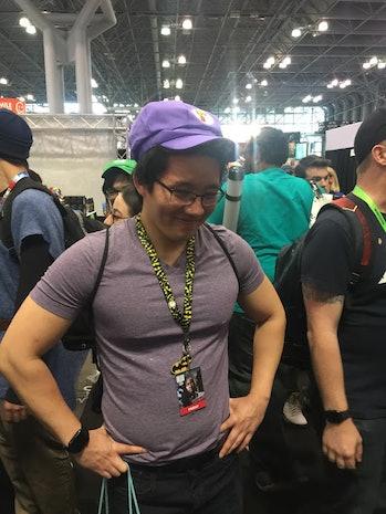 Waluigi cosplay at NYCC 2018