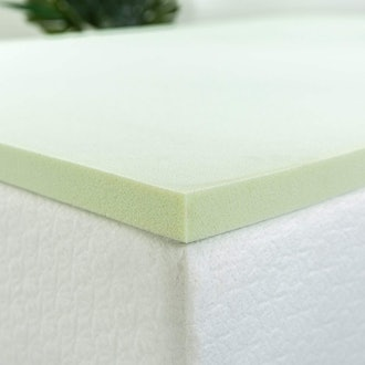 Zinus 1.5-Inch Green Tea Memory Foam Mattress Topper