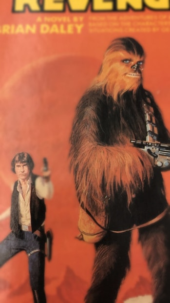 Detail from the 1978 cover of 'Han Solo's Revenge' by Brian Daley. Art by Dean Ellis