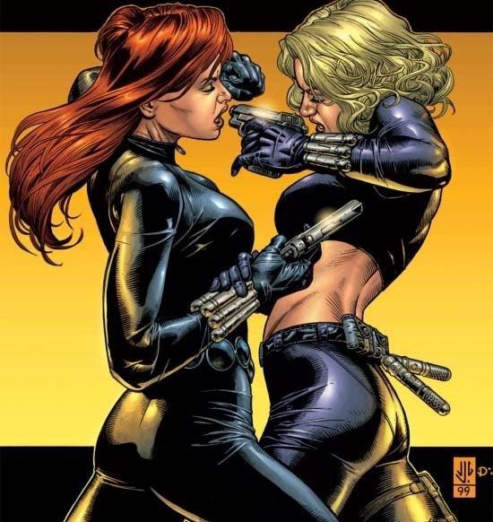 Natasha Romanoff and Yelena Belova in Marvel comics
