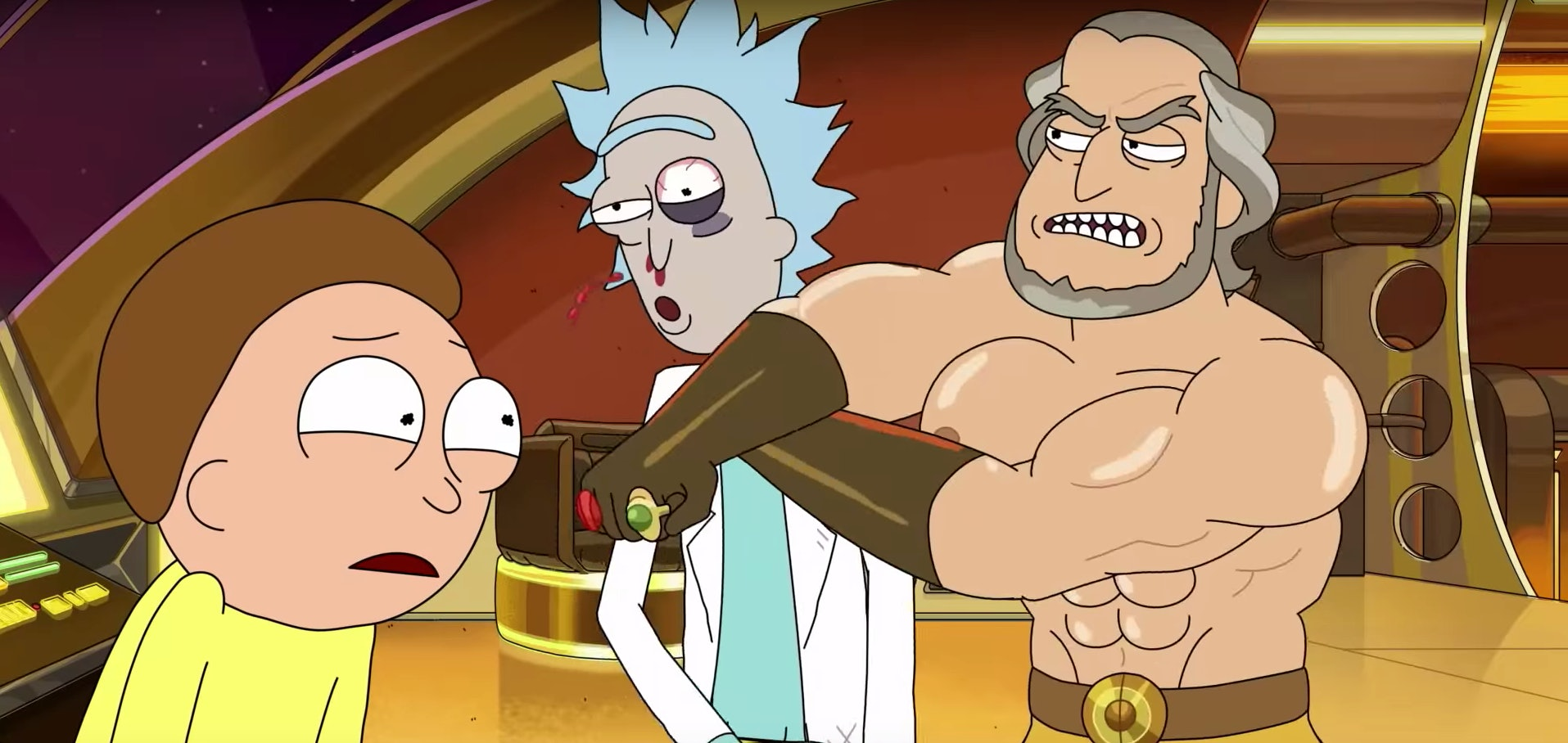 rick and morty opening credits ripped old guy