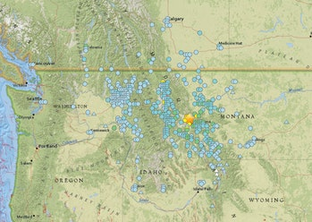 montana earthquake shake stations