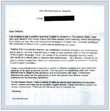 Warren Clark ISIS cover letter