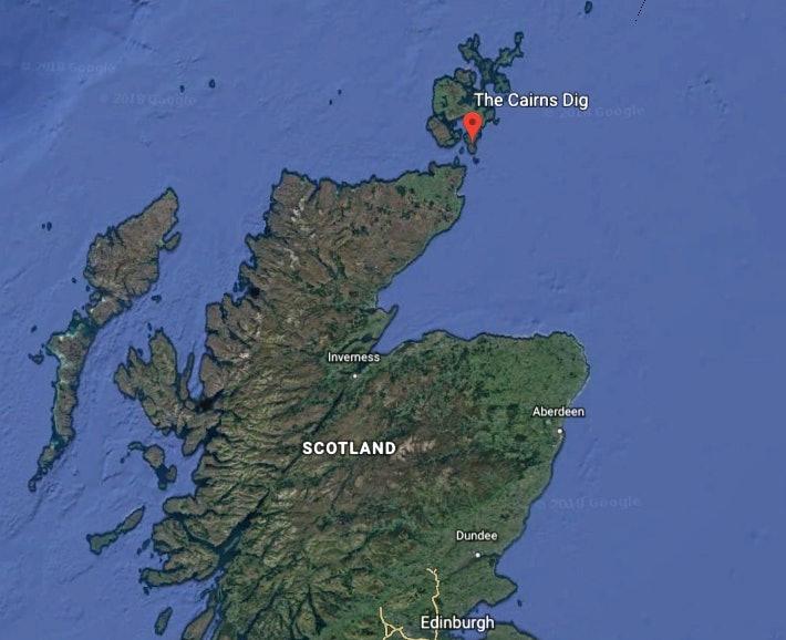 cairns dig orkney map
