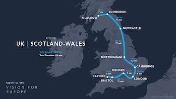 Scotland to Wales
