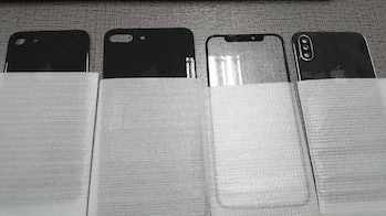 The 7S and 7S Plus backs alongside the iPhone 8 parts