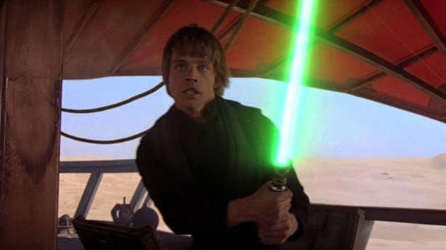 luke green lightsaber return of the jedi