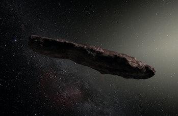 Artist's impression of 'Oumuamua.