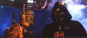 Boba Fett and Darth Vader in Cloud City