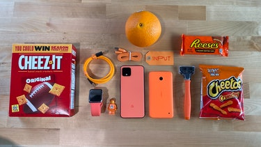 Oh So Orange Pixel 4 compared to orange things