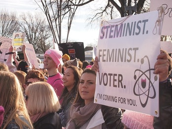 women's march, science