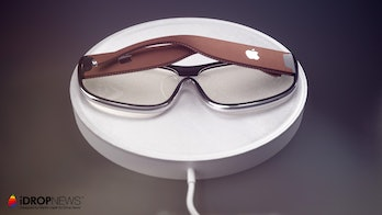 The glasses on charge.