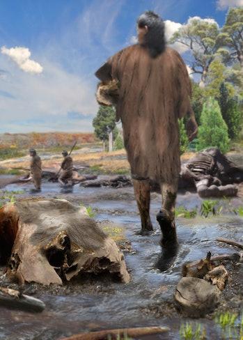 ancient man, mud walk