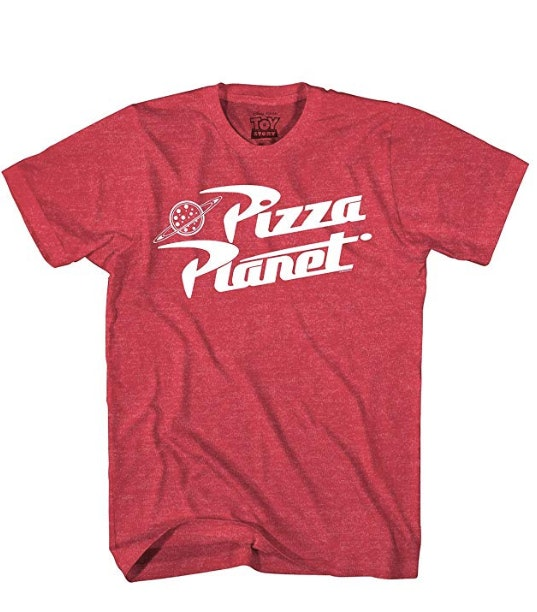 Toy Story Pizza Planet Delivery Adult Heather Red T-Shirt