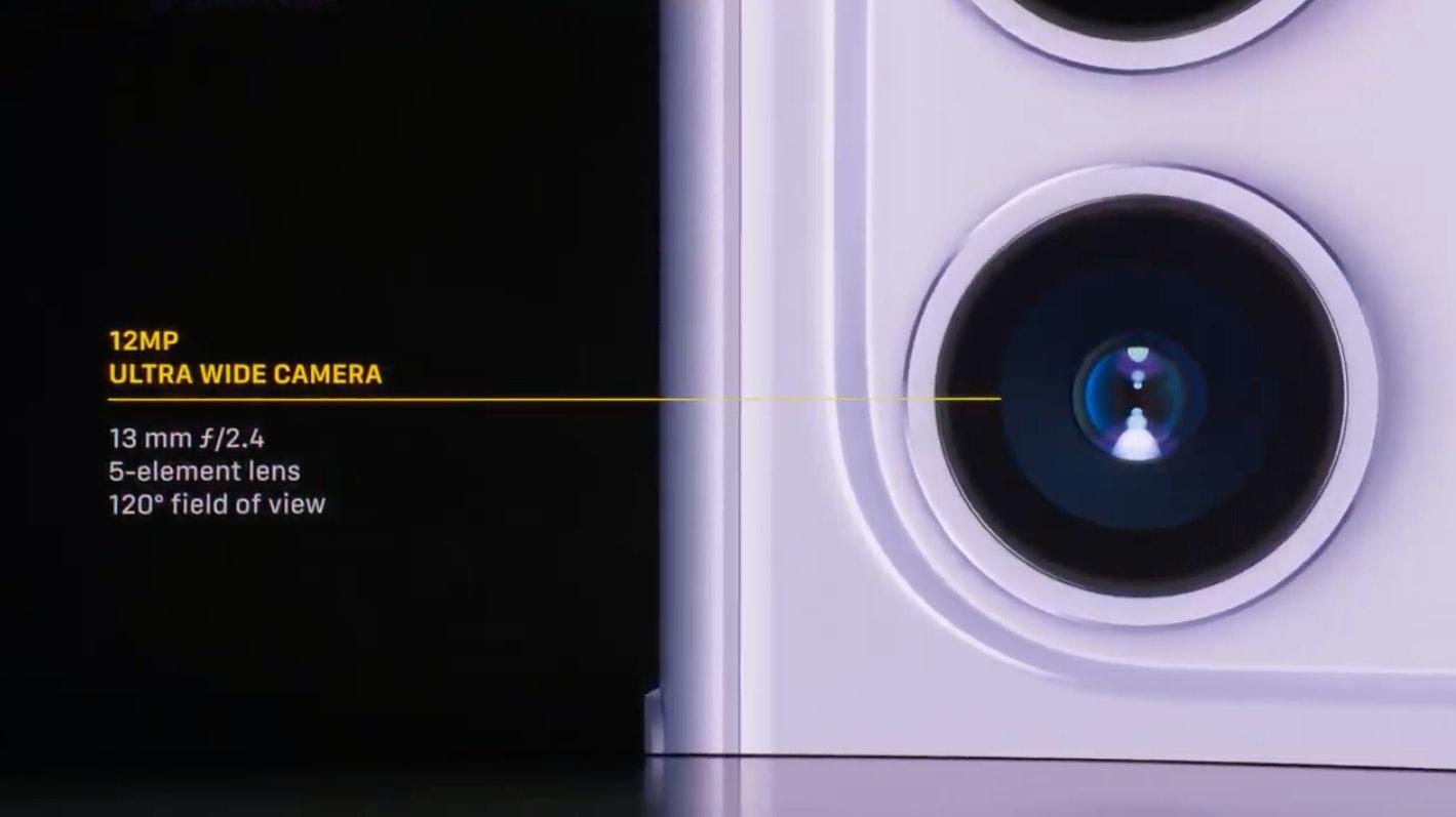 The ultra-wide camera.