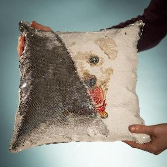 Lovimals Customized Flip Sequen Pillow Cover