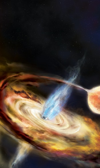 NICER's image of a new black hole.