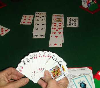 Bridge playing card game is complex to master.