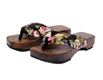 Ainiel Woman's Japanese Traditional Clogs Geta Sandals