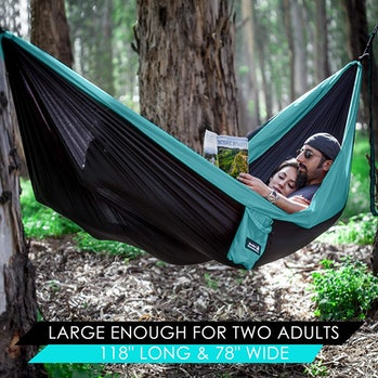 hammock, outdoors, couples, cuddle, Valentine's Day, camping