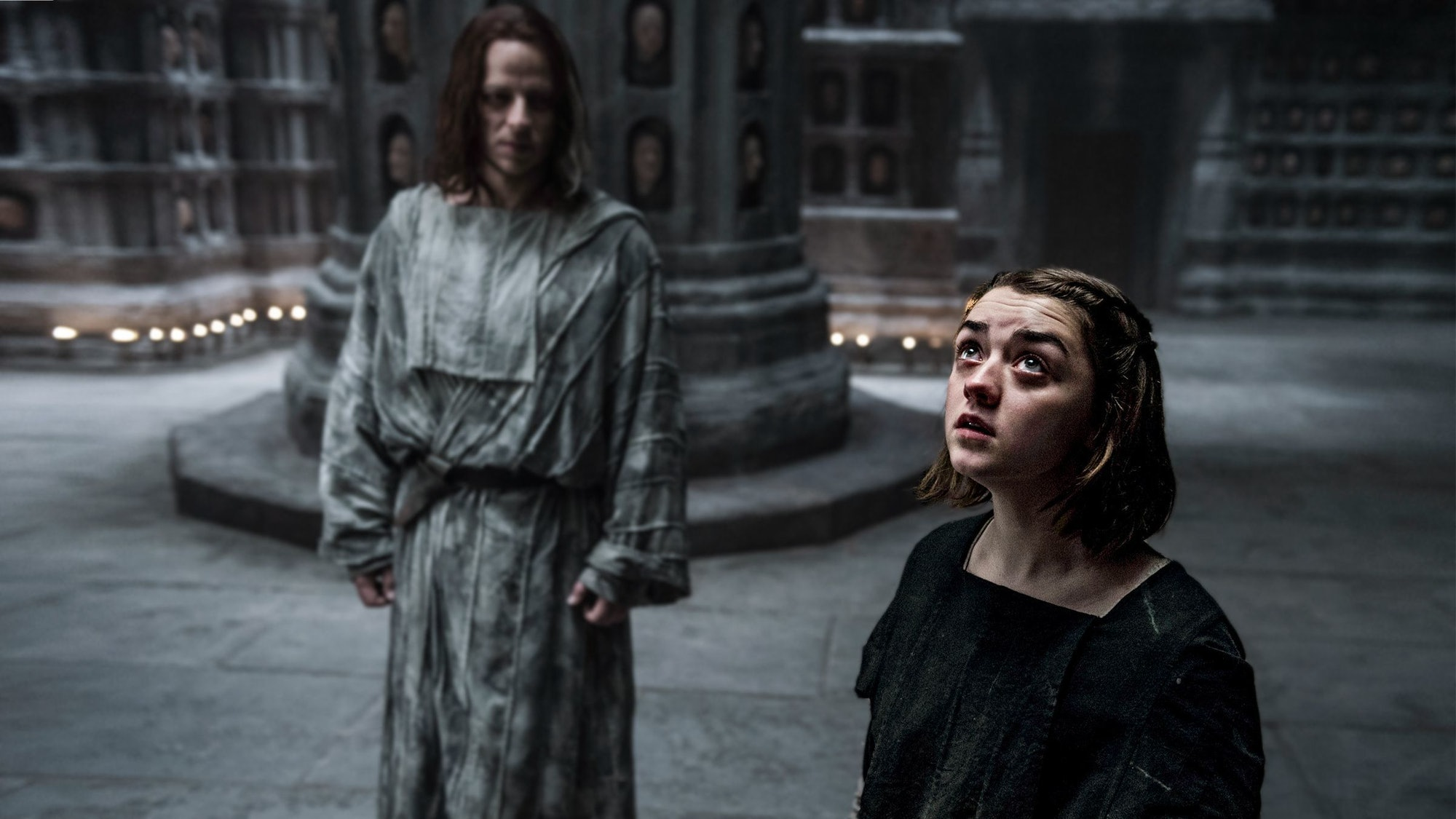 Arya in theHall of Faces.