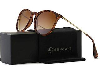 SUNGAIT Vintage Round Women's Sunglasses