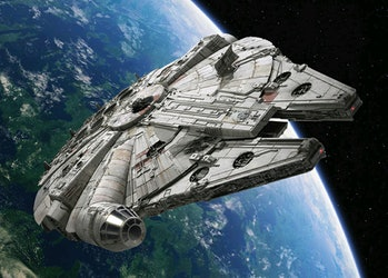 In 'Ready Player One', the Millennium Falcon is reduced to a mere namedrop.