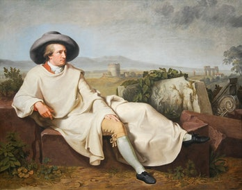Johann Heinrich Wilhelm Tischbein - Goethe in the Roman Campagna, 1787