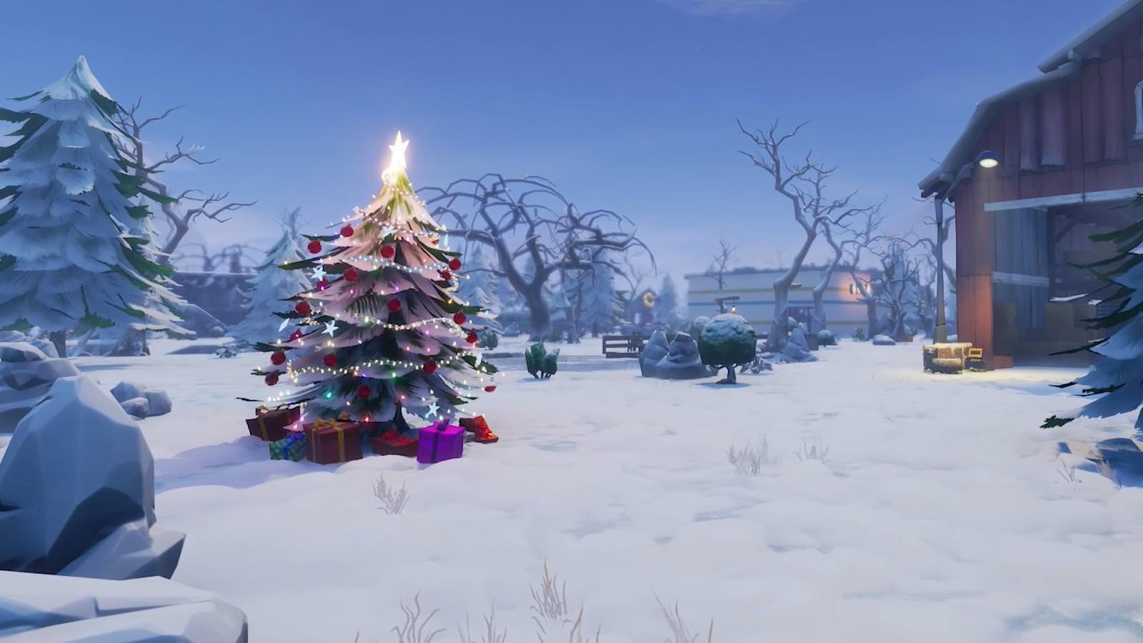 fortnite christmas tree