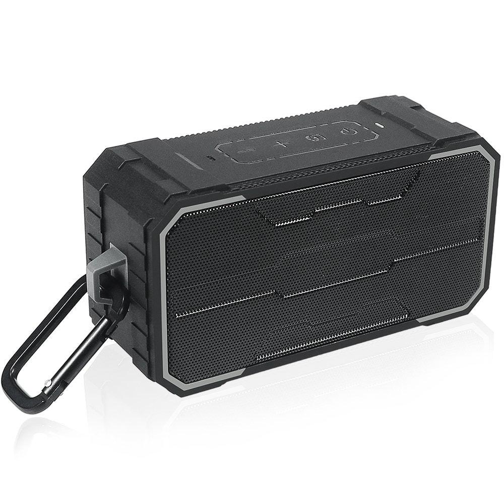 Zosam Portable Bluetooth Speaker, HiFi 10W Rich Bass HD Stereo Sound Wireless Speaker, IPX6 Waterproof Anti-drop Outdoor Speaker, Built-in Mic, AUX/SD Input, Enjoy Shower, Beach, Party, Travel (Black)