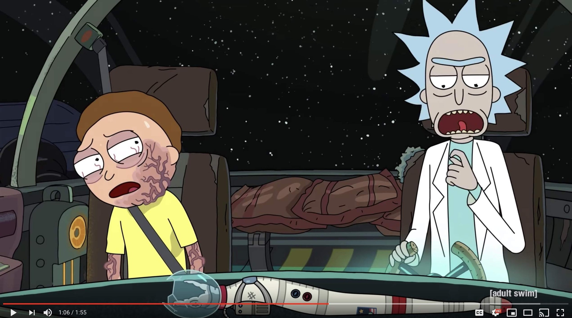 rick and morty space snake