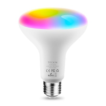 TECKIN Smart Light Bulb,LED RGB Color Changing,E27 100W Equivalent Compatible with Alexa and Google Home,IFTTT,BR30 WiFi Light Blubs(13W), 1 Pack