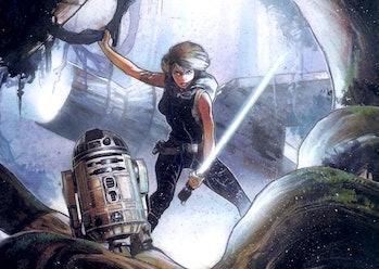 Mara Jade and R2-D2 in the Dark Horse Comics version of 'Heir to the Empire'Mara Jade and R2-D2 in t...
