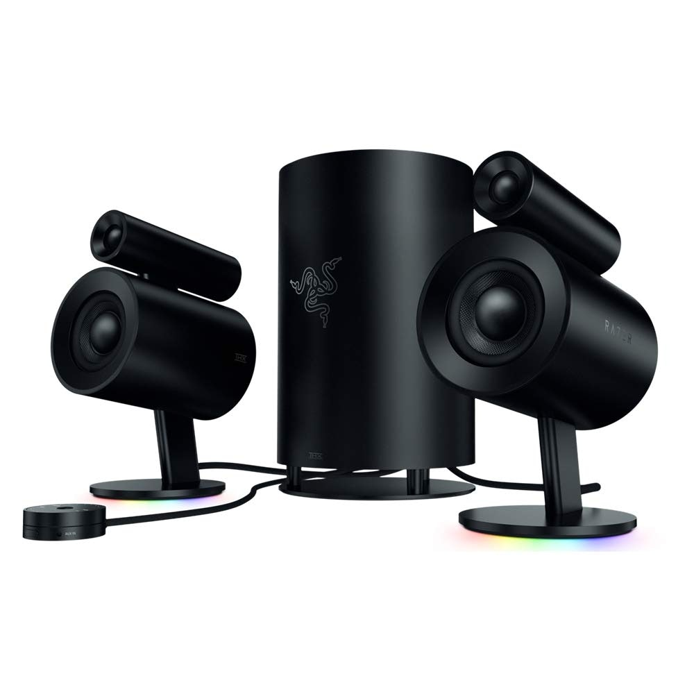 Computer Speakers Razer Nommo Chroma Rear Bass Ports for Full Range Gaming...