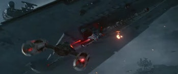 A Y-Wing attacks a Star Destroyer in the 'Rise of Skywalker' trailer