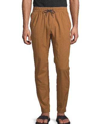 No Boundaries Men's Twill Jogger Pants