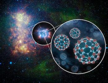 buckyballs in interstellar space
